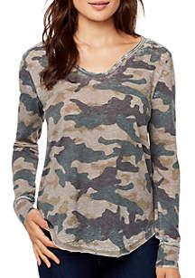 WILLIAM RAST™ Candace Long Sleeve Henley T Shirt