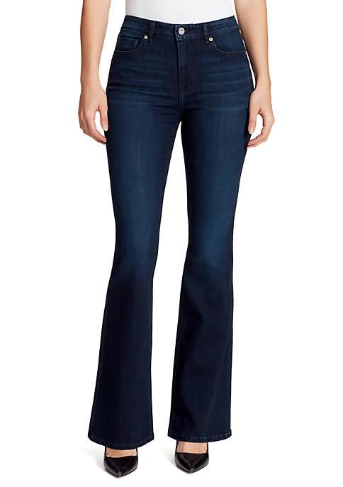 High Rise Fared Denim Jeans
