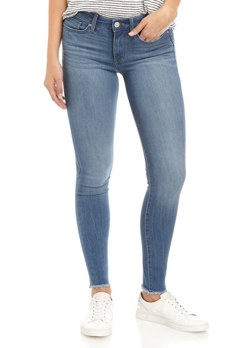 Perfect Skinny Jeans with Frayed Hem