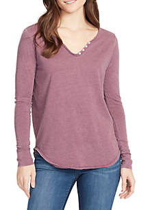 WILLIAM RAST™ Candace Long Sleeve Henley T Shirt