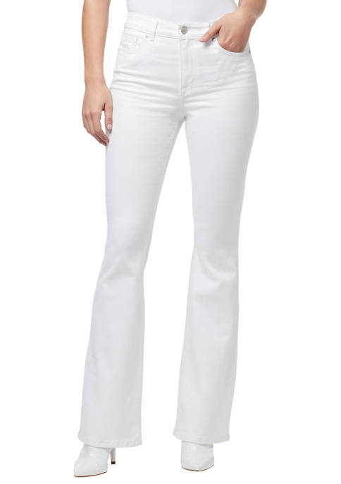 Womens High Rise Flare Jeans