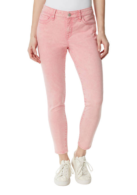 Frayed Ankle Length Skinny Jeans