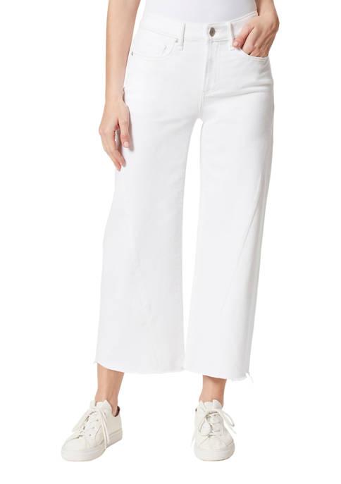 Frayed Forward Seam Culotte Pants