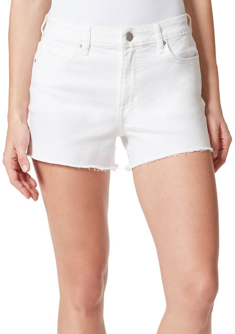 Frayed Womens High Rise Denim Shorts