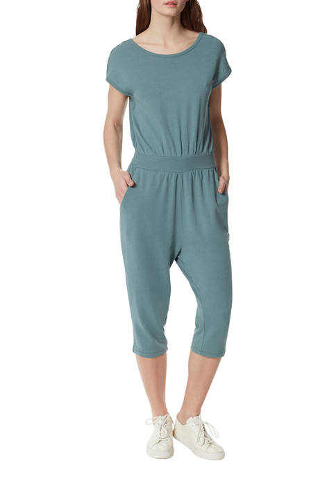 Frayed Womens French Terry Romper