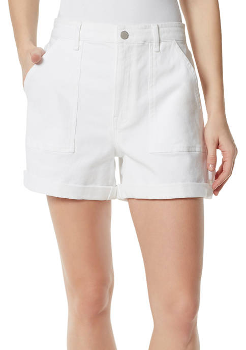 Frayed Womens Skinny Fit A-Line Shorts