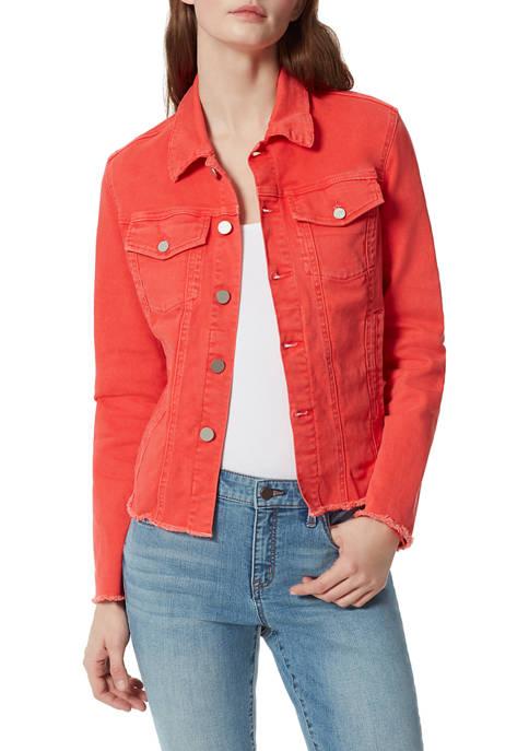 Frayed Womens Classic Denim Jacket