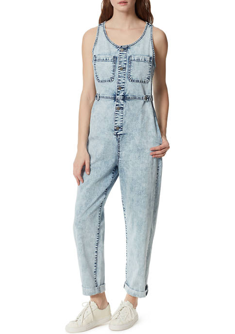 Frayed Womens Baggy Jumpsuit
