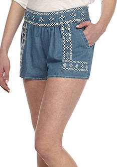Red Camel® Embroidered Shorts