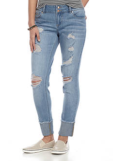 Red Camel® Raw 4 Cuff Ankle With Destruction Jeans