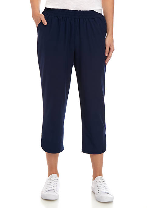 New Directions® Womens Studio Stretch Woven Capris