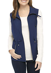 Stretch Woven Solid Vest