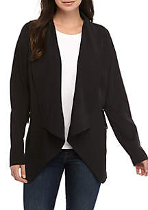 New Directions® Weekend Long Sleeve Stretch Woven Jacket