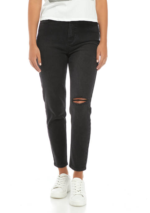 Destructed Mom Jeans