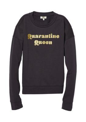 True Craft Womens Long Sleeve Graphic Sweatshirt