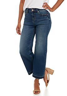 Release Hem Wide Leg Crop Jeans