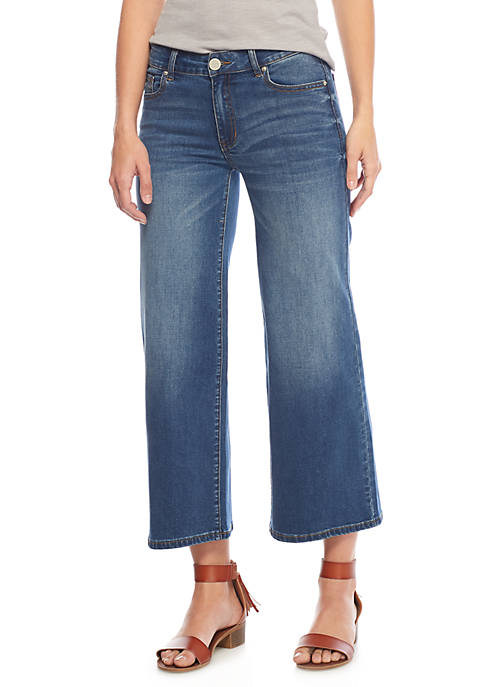 ASHLEY MASON Wide Leg Ankle Jeans