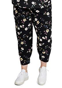 Plus Size Soft Floral Pants