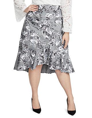7d0597d4c RACHEL Rachel Roy Plus Size Bailen Ruffle Printed Skirt | belk