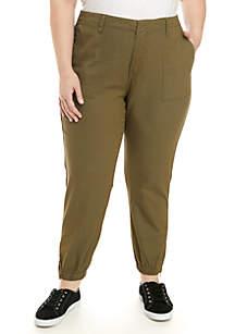 Plus Size Army Crop Pants