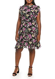 Plus Size Lora Ruffle Dress
