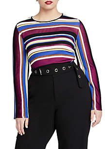 Plus Size Royal Stripe Sweater