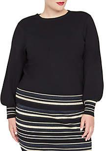 Plus Size Zuri Metallic Stripe Sweater