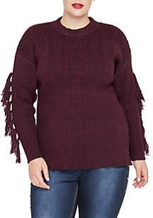 Plus Size Harlee Fringed Sweater