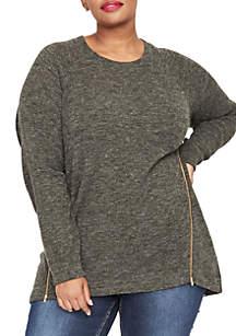 Plus Size Side Zip Sweatshirt