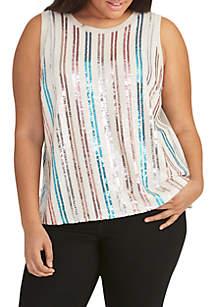 RACHEL Rachel Roy Plus Size Addie Sequin Top
