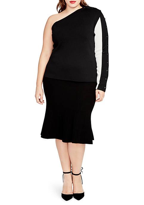 Plus Size Pebble Flutter Skirt