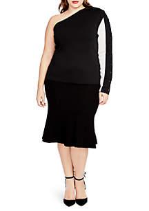 5df82245edf05 ... RACHEL Rachel Roy Plus Size Pebble Flutter Skirt