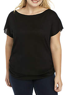 Plus Size Ruched Tee