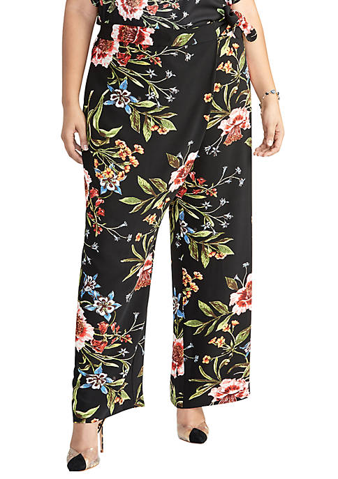 RACHEL Rachel Roy Plus Size Sami Printed Pants