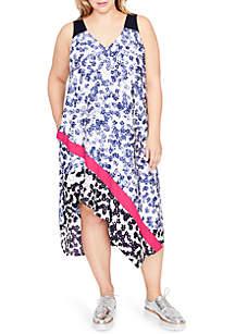 Plus Size Mix Scarf Dress