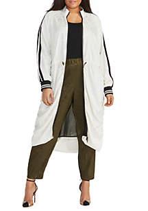RACHEL Rachel Roy Plus Size Ruched Anorak Jacket