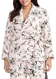 1b30541862b3a8 ... RACHEL Rachel Roy Plus Size Tie Waist Printed Blazer