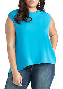 RACHEL Rachel Roy Plus Size Gabriella Sleeveless Top
