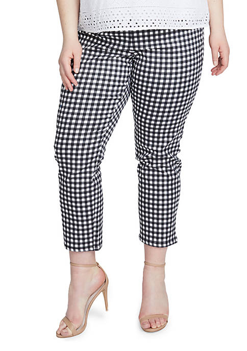 RACHEL Rachel Roy Plus Size High Waist Gingham
