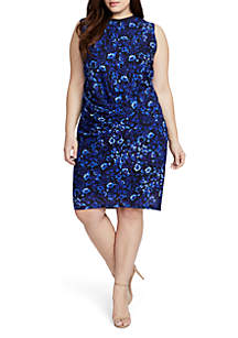 Plus Size Santorini Printed Sheath Dress