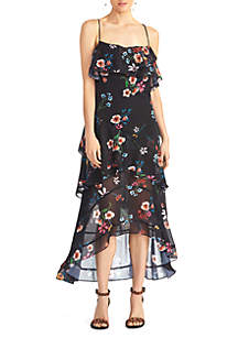 RACHEL Rachel Roy Floral Ruffle Dress
