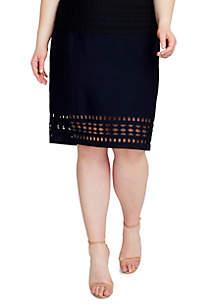 Plus Size Cutout Sweater Skirt
