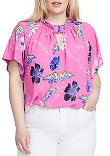 Plus Size Floral Kimono Top