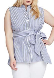 Plus Size Esta Yarn Dye Stripe Tunic