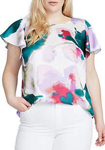 Plus Size Amalfi Floral Print Tee