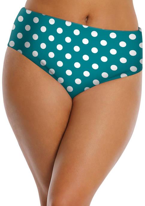 Lysa Plus Size Polka Dot Reed Swim Bikini