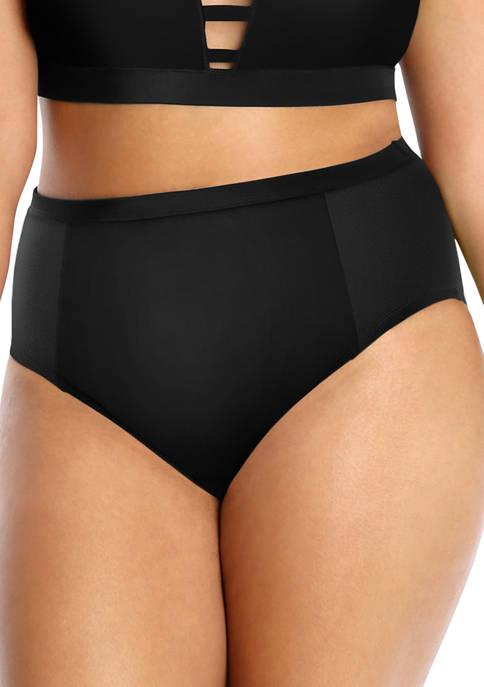 Lysa Plus Size Shiloh Black Bikini Swim Bottoms