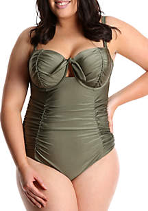 aa83cd871b ... Lysa Plus Size Retro Inspired One Piece Swimsuit