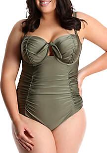 Lysa Plus Size Retro Inspired One Piece Swimsuit