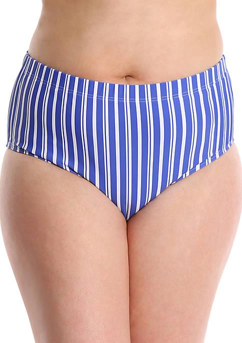 Plus Size Mid Rise Bikini Swim Bottoms